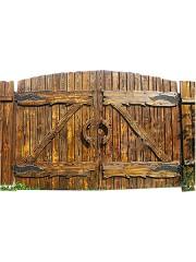 Ворота из массива под старину мод. 1