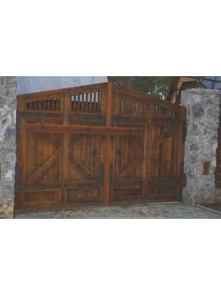 Ворота из массива под старину мод. 2