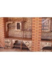 """Кухня из массива под старину """"Тира"""""""