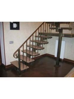 Лестница из массива дуба мод. 10