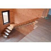 Лестница из массива дуба мод. 15