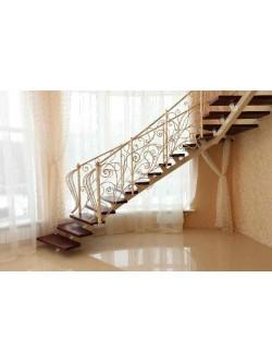 Лестница из массива дуба мод. 2