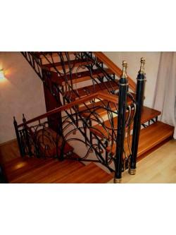 Лестница из массива дуба мод. 19