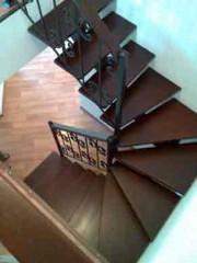 Лестница из массива дуба мод. 21