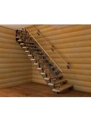 Лестница из массива дуба мод. 24