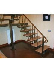 Лестница из массива дуба мод. 3