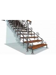 Лестница из массива дуба мод. 6