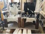 Кресло с натуральной шкурой
