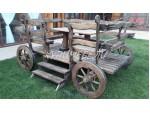 Скамейка-телега для дачи и сада